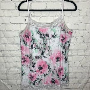 Maurices lace white and floral tank